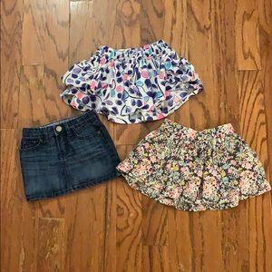 Bundle of 3 toddler girl skirts 2yr/2T/24M